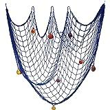 Rete da pesca Decorazione della parete Stile mediterraneo nautico Cornice per appendere foto Con conchiglie per decorazioni p