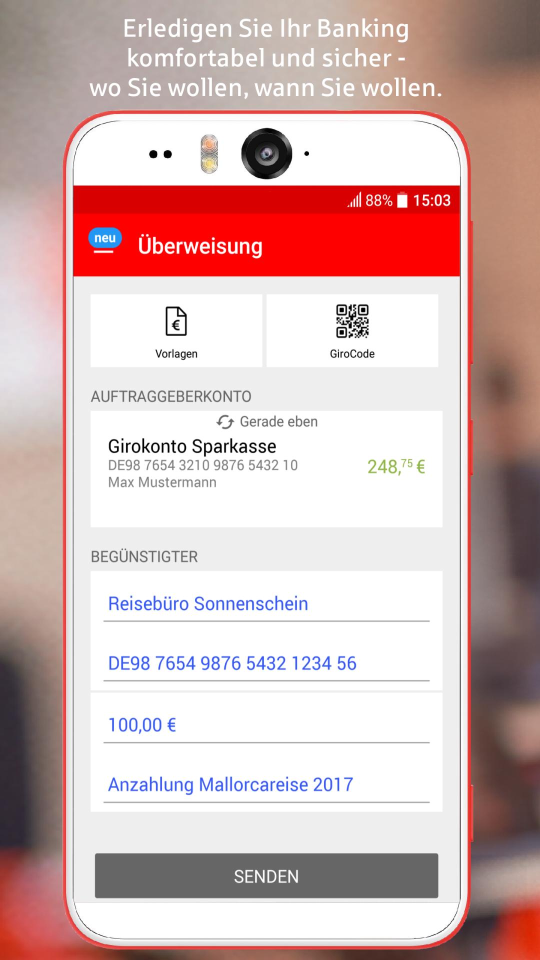 Sparkasse+ Screenshot