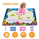 Updated 2019 Version AquaDoodle Drawing Mat for Kids, Aqua Doodle Pad Educational Gifts Developmental Toys Coloring Water...
