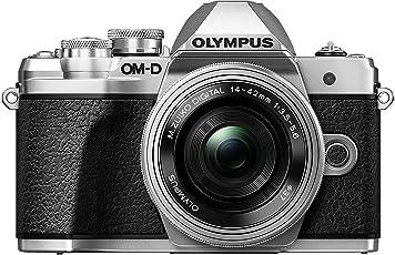Olympus OM-D E-M10 Mark III Systemkamera (16 Megapixel, 5-Achsen VCM Bildstabilisator, elektronischer Sucher mit 2,36 Mio. OLED, 4k Video, WLAN) Kit inkl. 14-42 mm EZ Objektiv silber