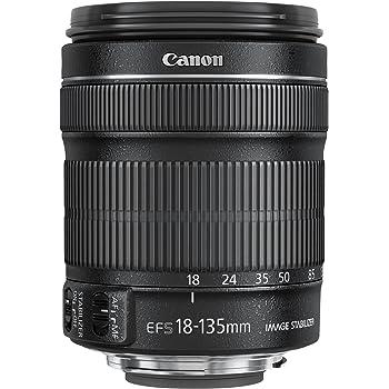 Canon EF-S 18-135mm f/3.5-5.6 IS STM - Objetivo para canon (Distancia Focal 29-216mm, Apertura f/3.5-38, Zoom óptico 7.5X,estabilizador, diámetro: 76.6mm) Negro