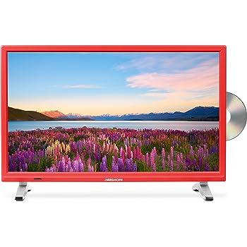 Medion Life P12501 MD 21501 54,6 cm (21,5 Zoll Full HD) Fernseher (LCD-TV mit LED-Backlight, Triple Tuner, DVB-T2 HD, HDMI, CI+, integrierter DVD-Player und Medienplayer) rot