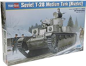 Hobby Boss 83.853 - Kit di modello sovietico T-28 medio serbatoio rivettato