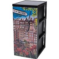 Iris Ohyama, Armoire de rangement design 3 tiroirs - Style Chest - SCF-303,plastique, thème Amsterdam, 45 L, 29 x 39 x…