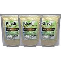 Khadi Omorose Multani Mitti Powder for Skin and Hairs, (Pack Of 3),100 gm each