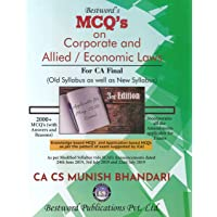CA Final MCQs on Corporate and Allied Laws and Economic Laws Old and New Syllabus of 3rd Edition By Munish Bhandari Applicable for May 2020 Exam
