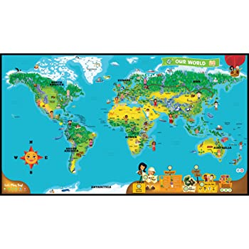 Leapfrog leapreader world map works with tag amazon toys leapfrog leapreader world map works with tag gumiabroncs Choice Image