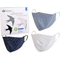 MediWeave 3-Ply Cotton Face Mask with Meltblown Filter, Reusable & Washable Mask (Adult 3 Pack, Pattern & Color as shown…