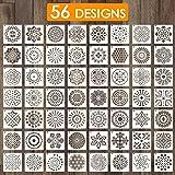 Outivity Mandala sjablonen voor het schilderen op hout, steen, stoffen, metaal, meubels en muren, flexibel en herbruikbaar, 9
