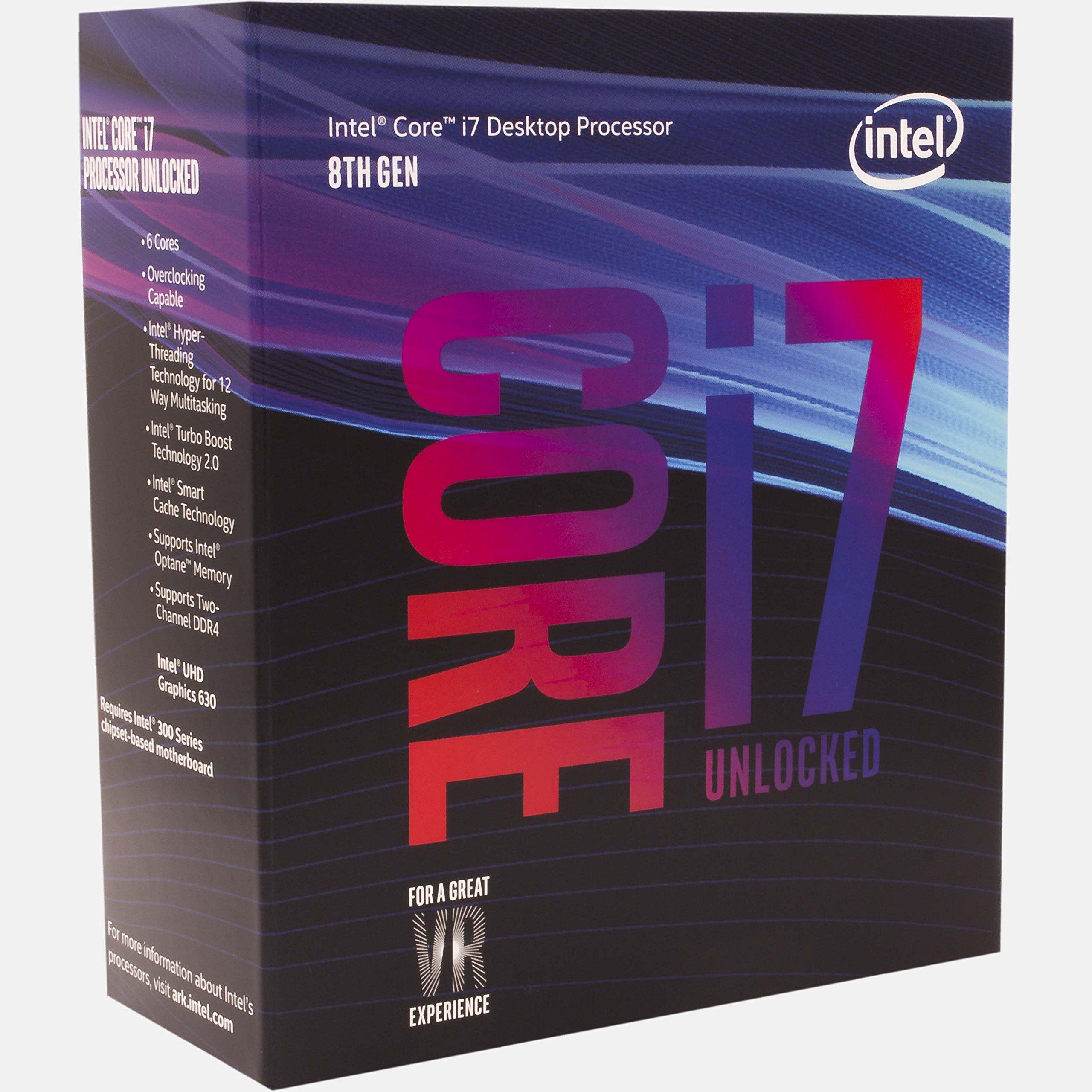 Intel Core i7-8700K 3.7GHz 12MB Smart Cache Box processor - processors (8th gen Intel� Core� i7, 3.7