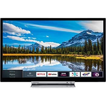 0115be8ce15a Toshiba 24D3863DB 24-Inch HD Ready Smart TV with Freeview Play and Built In  DVD Player - Black/Silver (2018 Model)