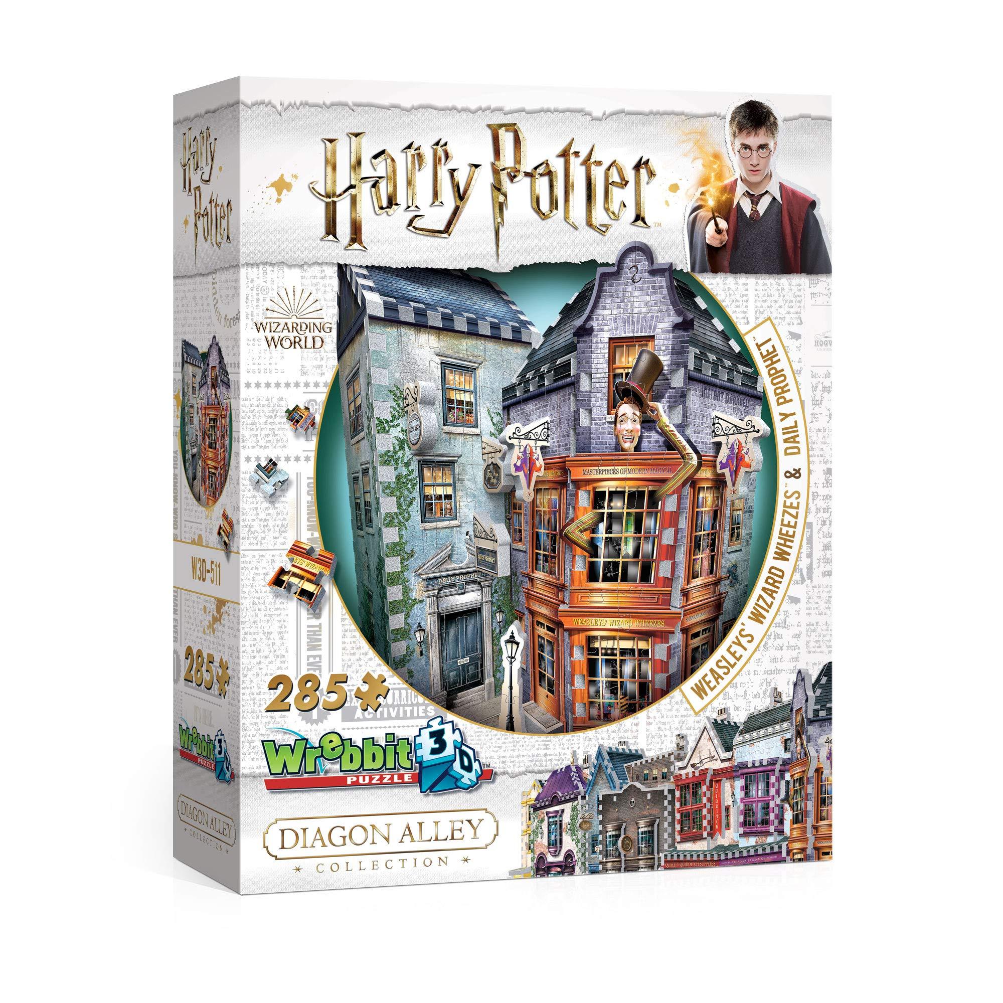 Branpresto- Tienda de Sortilegios Weasley y Oficina del Diario El Profeta Puzzle 3D, Multicolor (607962b W3D-0511)