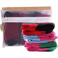 Laulax 3 paia di calzini da sci invernali per ragazze in cashmere, per sport invernali, set regalo, taglia Junior EU 33…