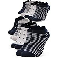 Occulto 8 Paia Calzini Sneaker da Donna | Calzini Corti a Righe, Puntini ed altri Motivi | Calze Carine Donna in Cotone