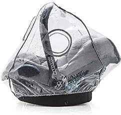 Universal Komfort Regenschutz für Babyschale (z.B. Maxi-Cosi/Cybex/Römer) | gute Luftzirkulation, verschließbares Kontakt-Fenster, Eingriffsöffnung für Tragegriff, PVC-frei