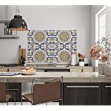 Europa™ Kitchen Stickers Wall Oil Proof & Waterproof | Peel & Stick for Kitchen Tiles Backsplash, Behind Gas Stoves, Behind S