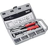 Novus Blindklinktang N-10 set in koffer - incl. 15x aluminium blindklinknagels A2.5, A3, A4 en A5, klinktang voor 1-hand-bedi
