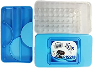 Deccan Abs Sewing Thread And Accessories Storage Box - Blue - For 32 Thread Spools