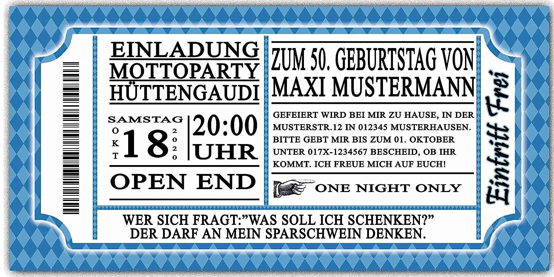 Einladungskarten Zum Geburtstag Oktoberfest 50 Stück Bayrisch Bayrischen  Bayerrisch Hüttengaudi Bier Geburtstagseinladungen: Amazon.de: Bürobedarf U0026  ...