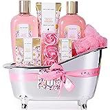 Spa Luxetique Coffret de Bain, Parfum de Marguerite, 8Pcs Coffret Soins pour Femme, Boules de Bain,Huile Esssentielle, Cadeau
