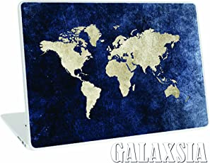 Galaxsia World Map 11.6 -15.6 Inches Vinyl Skin Sticker Art Decal Protector Case for Laptop and Notebook(Blue)