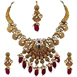 Matushri Art Gold Plated Antique Necklace Set Indian Traditional Jewelry For Womens And Girls