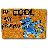 koko doormats felpudos Entrada casa Originales, Fibra de Coco y PVC, Felpudo Exterior Gato BE Cool MY Friend, 40x60x1.5 cm |