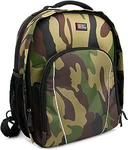 DURAGADGET Zaino Militare/Camouflage per Action Camera Excelvan DV603E | OUTAD IP68 | WiMiUS q6 | JEEMAK 4K + Custodia Impermeabile - Design Esclusivo