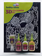 PIDILITE 3-D Colouring Kit - Floral (Watering Can)