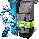 invilus ® - Rolltop Rucksack Damen und Herren aus Recycelten Plastikflaschen | Rucksack Uni | Laptop Rucksack | Rucksäcke Dam