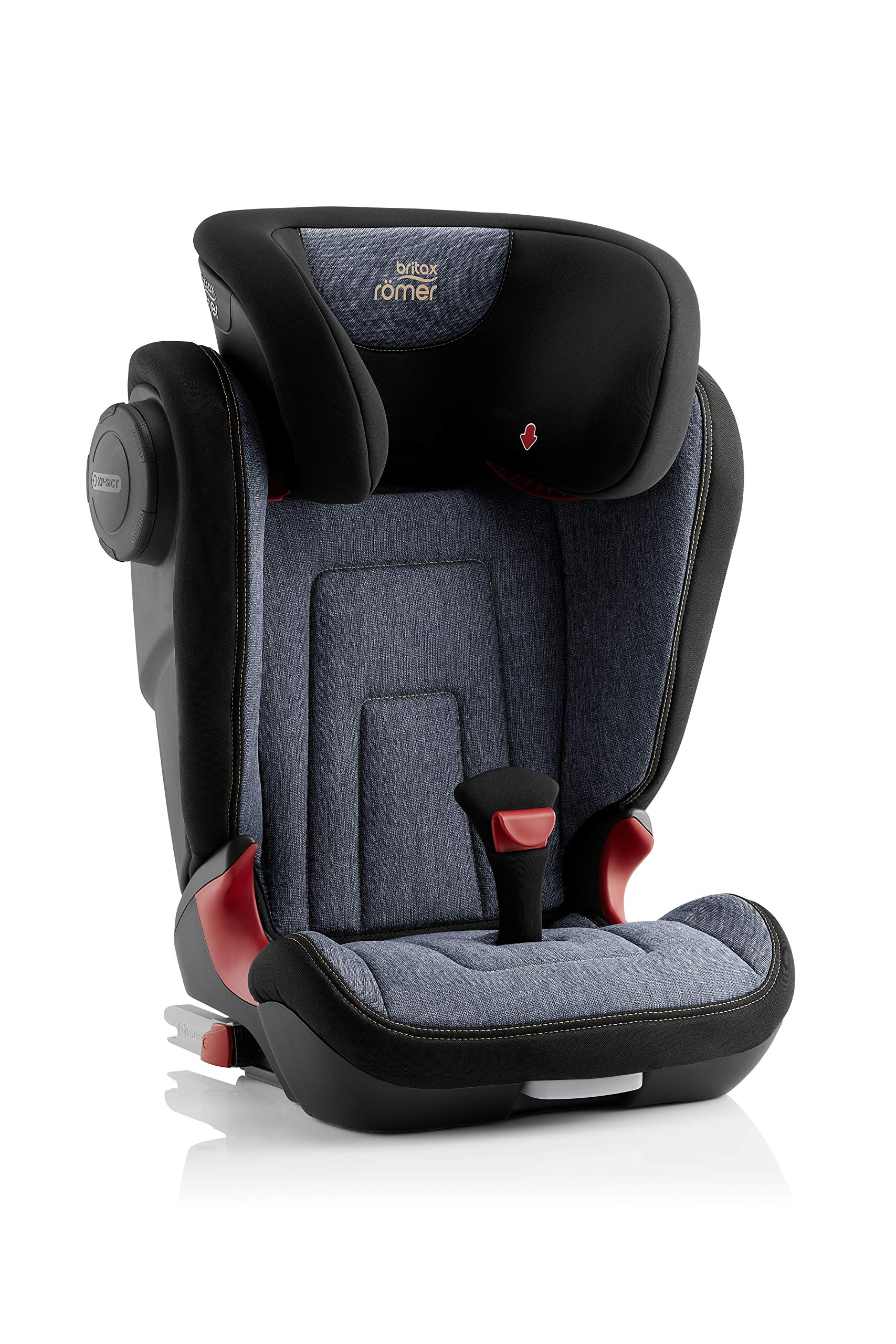 Britax Römer KIDFIX² S Group 2-3 (15-36kg) Car Seat - Blue Marble Britax Römer Advanced side impact protection - sict offers superior protection to your child in the event of a side collision. reducing impact forces by minimising the distance between the car and the car seat. Secure guard - helps to protect your child's delicate abdominal area by adding an extra - a 4th - contact point to the 3-point seat belt. High back booster - protects your child in 3 ways: provides head to hip protection; belt guides provide correct positioning of the seat belt and the padded headrest provides safety and comfort. 3