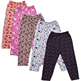 TotzTouch Baby Girl's Cotton Pajama Pants Set of 5