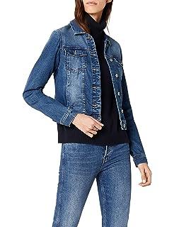 efac24da3f37 FIND Blouson Large en Jean avec Étoiles en Sequins Femme  Amazon.fr ...
