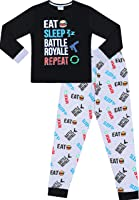 The Pyjama Factory Eat Sleep Battle Royale Repeat Gaming Cotton Long Pyjamas