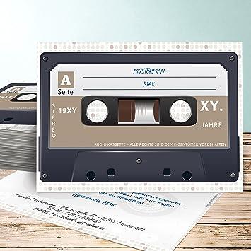 Einladungskarten 60 Geburtstag Selbst Gestalten, Kassette 80 Karten,  Horizontal Einfach 148x105 Inkl. Weiße