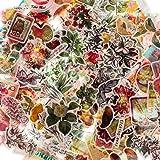 160 Pièces Autocollants Scrapbook Vintage Autocollants de Plantes Fleurs Vintage Stickers Champignon Papillon Rétro Autocolla