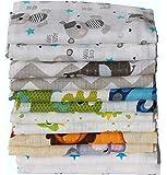 Clevere Kids Mulltücher Set 12 Stück Mix Jungen oder Mädchen Öko-Tex zertifiziert doppelt gewebt