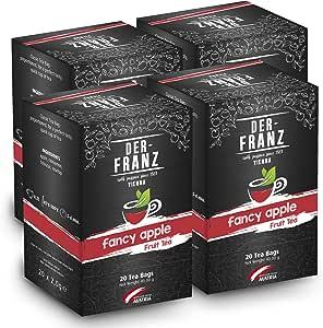 "Der Franz, Tè alla frutta ""Fancy Apple"" in bustina classica, 4 confezioni (20 x 2,0 g)"