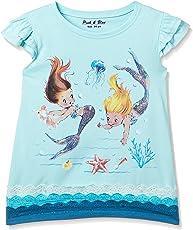 Pink & Blue By fbb Girls' Plain Regular Fit T-Shirt