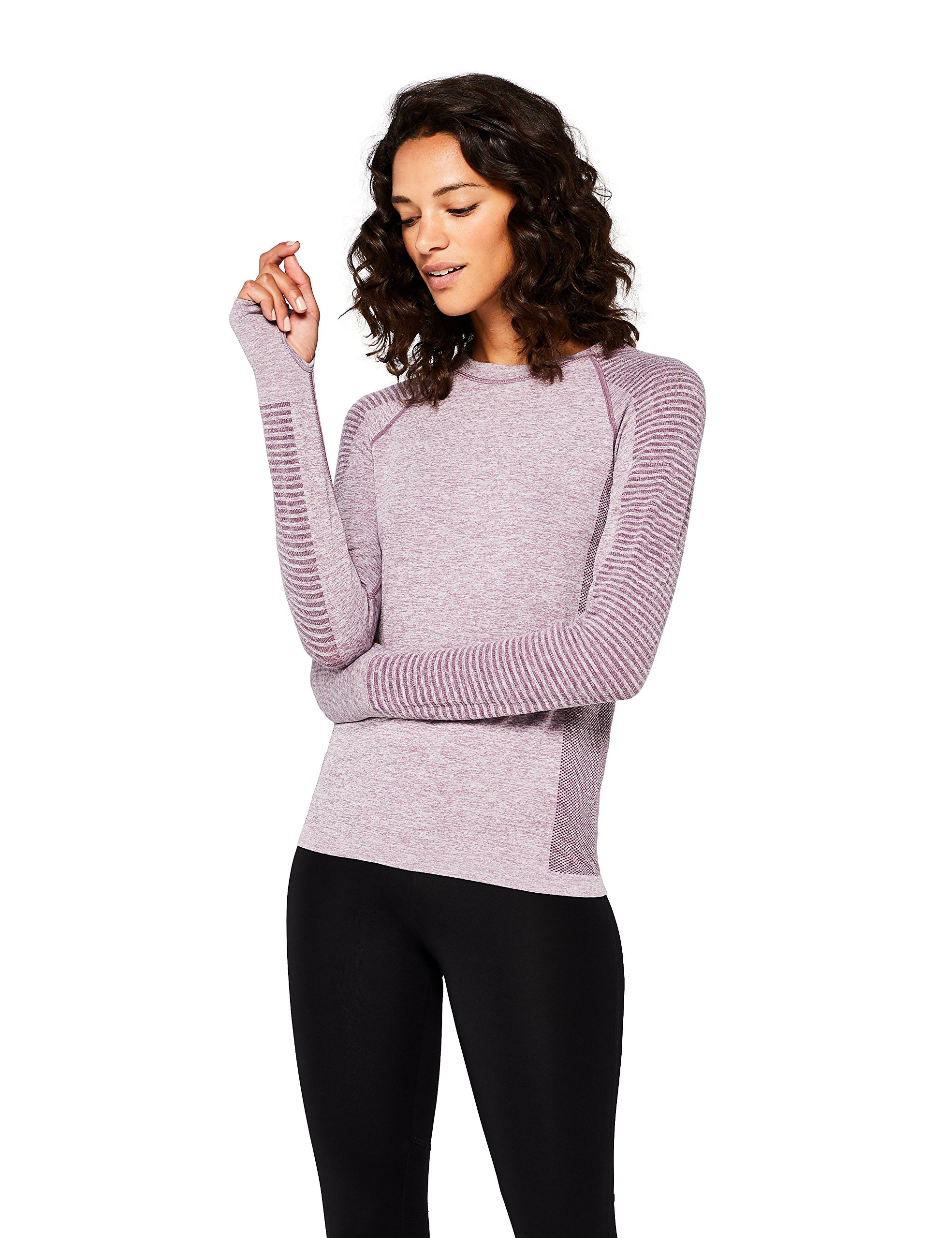 Amazon Brand - AURIQUE Women's Seamless Long Sleeve Sports Top 1