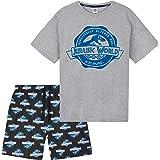 Jurassic World Mens Pyjamas Set, 2 Piece Short Pj Set, Gifts for Men Teens S-3XL