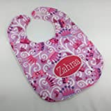 Handmade Personalised Baby Bibs In Choice of Animal, Elephant, Builder, Pirate or Princess Fabrics