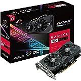 Asus ROG-STRIX-RX560-O4G-Gaming AMD Radeon Grafikkarte (PCIe 3.0, 4GB DDR5 Speicher, Aura Sync, DVI, HDMI, DisplayPort)
