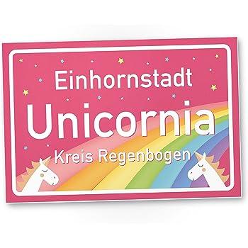 Einhornstadt Unicornia - Einhorn Schild - Stadtschild (30