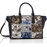 Desigual ACCESSORIES FABRIC HAND BAG, Borsa a mano. Donna, Nero, U