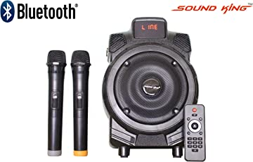 Sound King SK-752H Portable Amplifier With Bluetooth,USB & Card Reader slot & Two Wireless Microphone