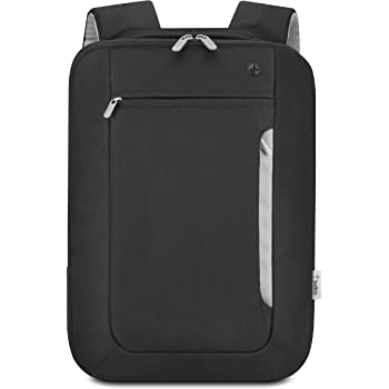 "Belkin Slim 15"" Notebook Polyester Backpack, Black/Light Gray"