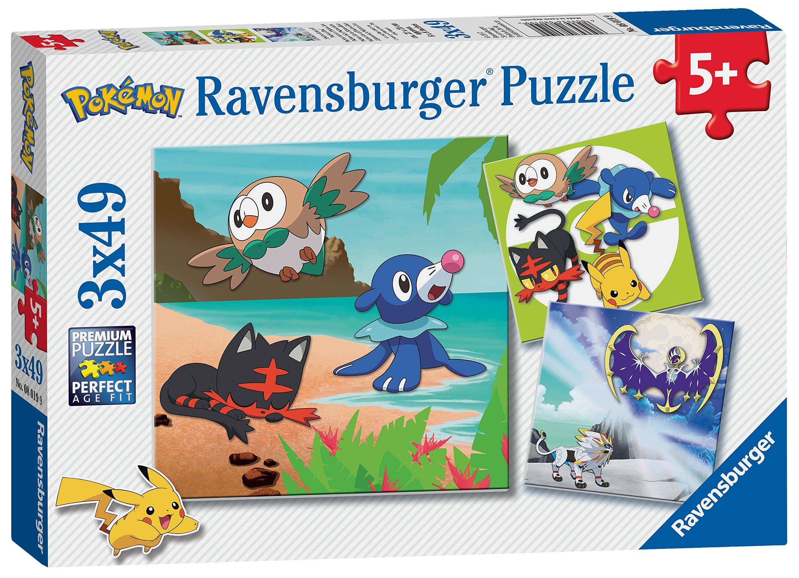 Uncategorized Pokemon Jigsaw Puzzle ravensburger 8019 pokemon jigsaw puzzles 3 x 49 pieces ebay pieces
