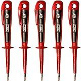 H+H Werkzeug 45400 5 x 45400 tester euro/tester napięcia/fazowy do 250 V atest GS zgodny z VDE 0680 Made in Germany, czerwony