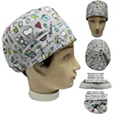 Scrub hat theatre. DENTAL INSTRUMENTS for Short Hair UNISEX with sweatband ajutable to your liking. Handmade. Surgeon…